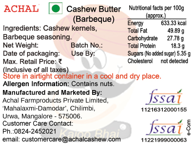 Barbeque Flavoured Cashew Kernels - Dry Roasted