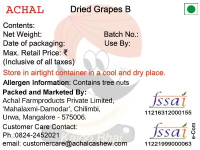 Dried Grapes - B