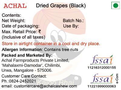 Dry Grapes, Black