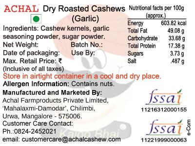 Garlic Flavoured - Cashew Kernels