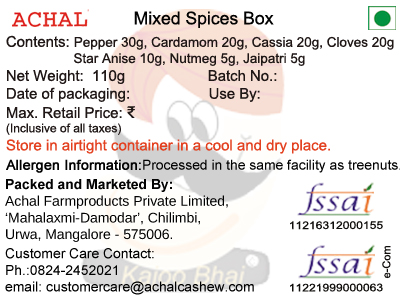 Mixed Spices Box