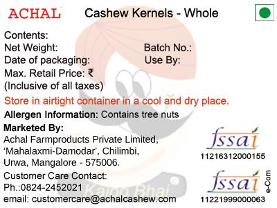 W 210 - Cashew Kernels